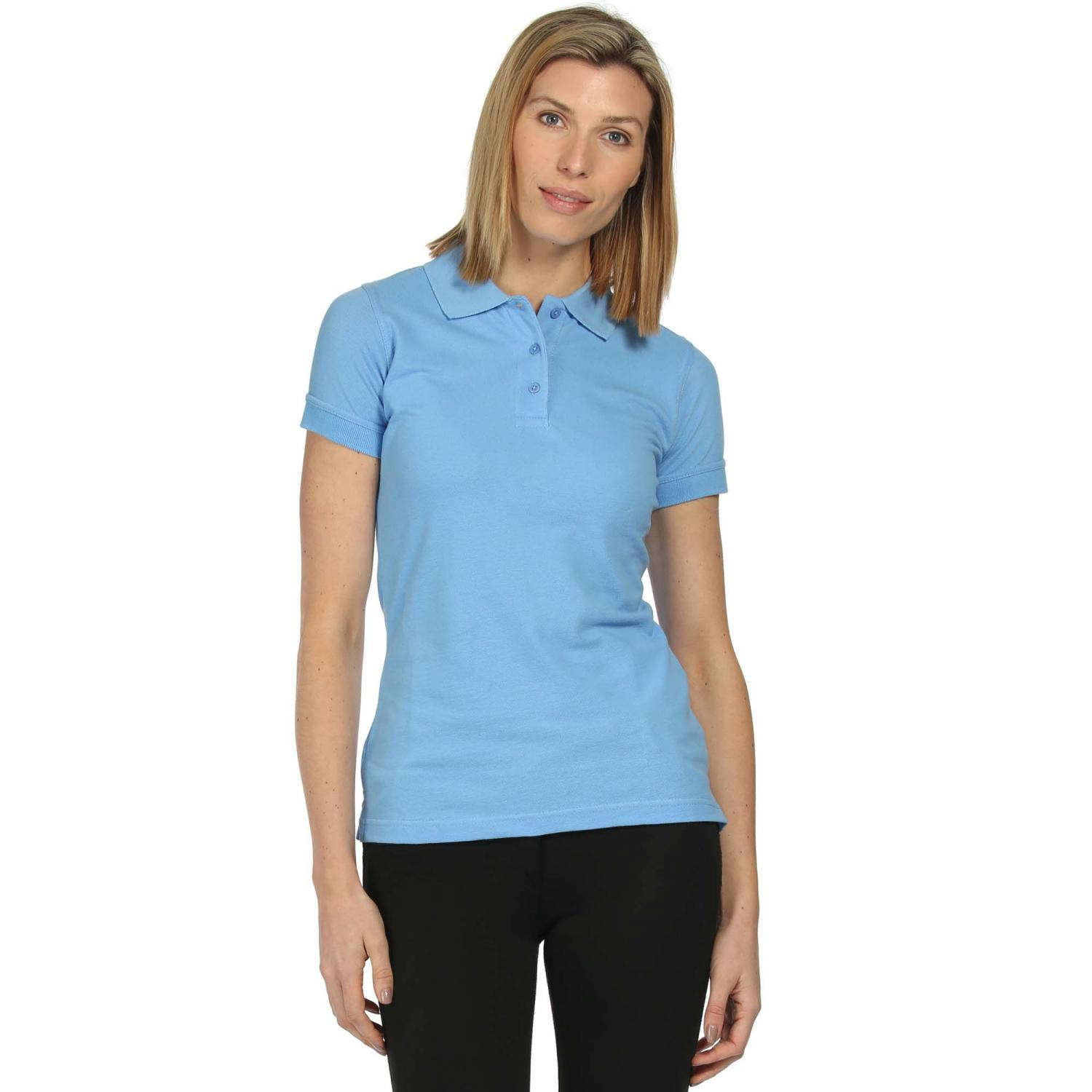 Womens Cotton Polo Shirt Blueskies