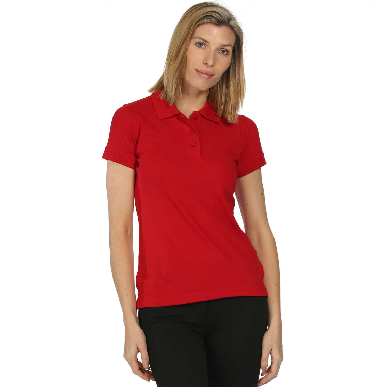 Womens Cotton Polo Shirt Classic Red